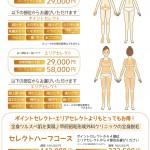 甲府昭和脱毛コースチラシ表(2014年5月改訂版)